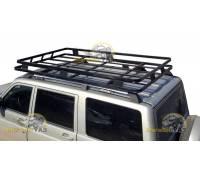 Багажник на УАЗ Патриот Универсал с креплением в водосток с сохранением рейлингов