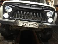 Решетка радиатора на УАЗ 469, 3151, 31519 Хантер «Злая», с металлической сеткой