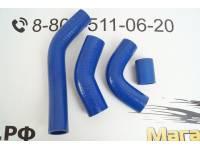 Комплект силиконовых патрубков радиатора УАЗ дв. 421 грузовой 100 л.с. (4 шт.)