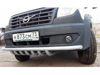 Дуга-защита переднего бампера УАЗ-ПРОФИ одинарная с защитой рулевых тяг
