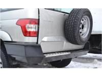 Силовой обвес на УАЗ Патриот 2015 Партизан задний С алюминиевой накладкой
