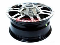 Диск колесный литой УАЗ R16х7 ET35 5/139,7 DIA 108.5 Patriot City-6 (черный глянцевый Gloss) с колпаком